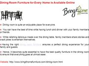 Dining Room Furniture for Every Home is Available Online