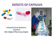 pharmaceutical capsules defects or problems