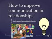 How to improve communication in relationships