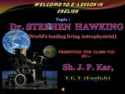 ppt. on Stephen Hawking