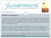 Just Artifacts Store for Home Decor Accessories and Favors