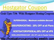 Hostgator Coupon Code - Grab Up To 75% Discount