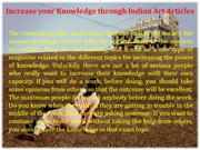 Increase your Knowledge through Indian Art Articles