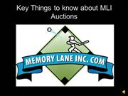 Key Things to know about MLI Auctions