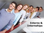 Interns & Internships PowerPoint Content