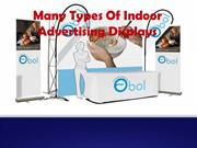 Many Types Of Indoor Advertising Displays