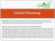 Introducation of Global Warming