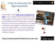 3 Things To Look For While Choosing In Electrician In Hawthorn