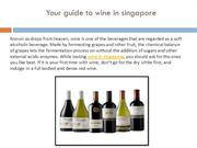 Your guide to wine in singapore