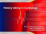 History taking in Cardiology