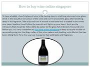 How to buy wine online singapore