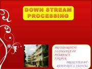 DOWN STREAMPROCESSING