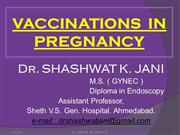 VACCINATIONS IN PREGNANCY