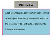 Interview types for job seekers