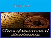 Transformational leadership style