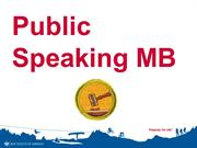 Public Speaking MB