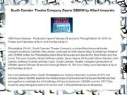 South Camden Theatre Company Opens GEMINI by Albert Innaurato