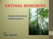 land resources(forest & minerals) biodiversity