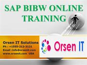 SAP BW  ONLINE TRAINING | BW COURSE DETAILS | OrsenIT.com