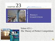 #23.1 -- The Theory of Perfect Competition (7.12)
