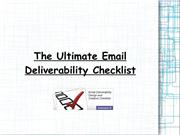 The Ultimate Email Deliverability Checklist