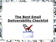The Best Email Deliverability Checklist