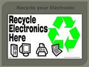 Recycle your Electronic
