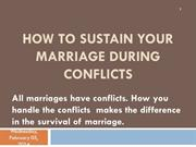 How to Sustain Your Marriage During Conflicts