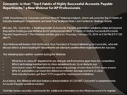 Corcentric to Host Top 5 Habits of Highly Successful Accounts Payable