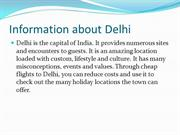 Delhi flights and Travel guide