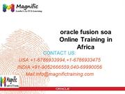 oracle fusion soa Online Training in Africa