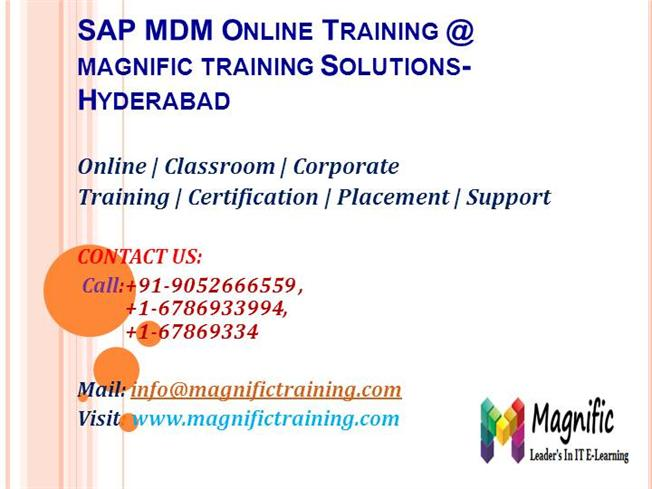 Sap Mdm Online Training Hyderabad Authorstream