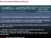 Phoenix Criminal Defense Attorney