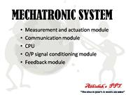 mechatronics unit1