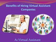 Benefits of Hiring Virtual Assistant Companies - A1 Virtual Assistant