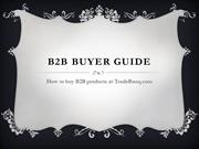 b2b buyer guide