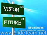 VISION AVE ROAD SIGN FUTURE POWERPOINT BACKGROUND
