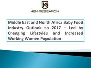 Food Industry: MENA Baby Food Industry Research Report
