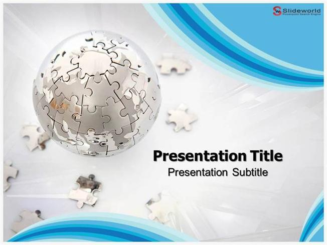 puzzle globe powerpoint template - slide world |authorstream, Powerpoint templates