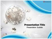 Puzzle Globe Powerpoint Template - Slide World
