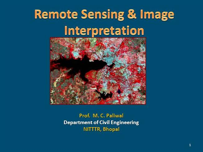 Ppt hyperspectral remote sensing introduction, applications and.