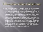 Hong Kong flights and Travel guide