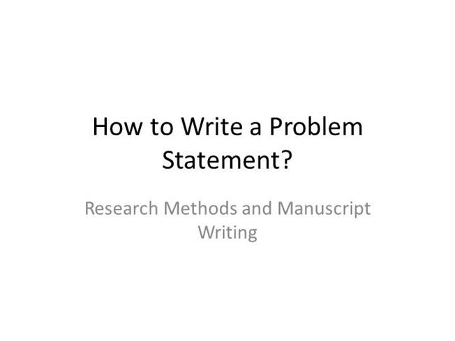 how to write the problem