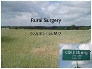 Rural Surgery Grand Rounds