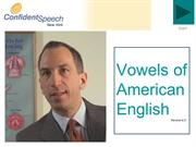 Vowels of American English