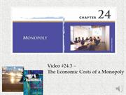 #24.3 -- The Economic Costs of a Monopoly (7.42)