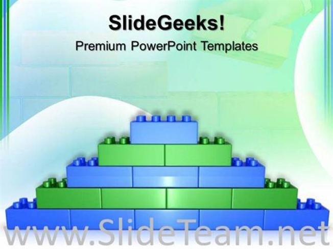 lego brick wall construction powerpoint background powerpoint template