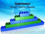LEGO BRICK WALL SUCCESS POWERPOINT BACKGROUND