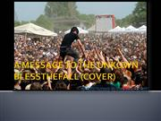 BLESSTHEFALL A MESSAGE TO THE UNKNOWN