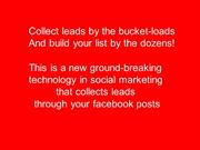 Capture Leads from your facebook newsfeed